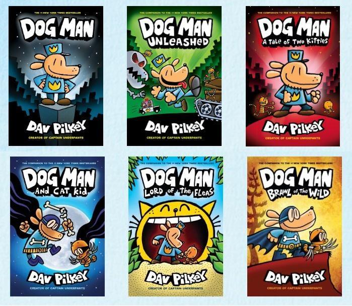 Dog Man Dav Pilkey Collection 6 Books Set (DogMan)