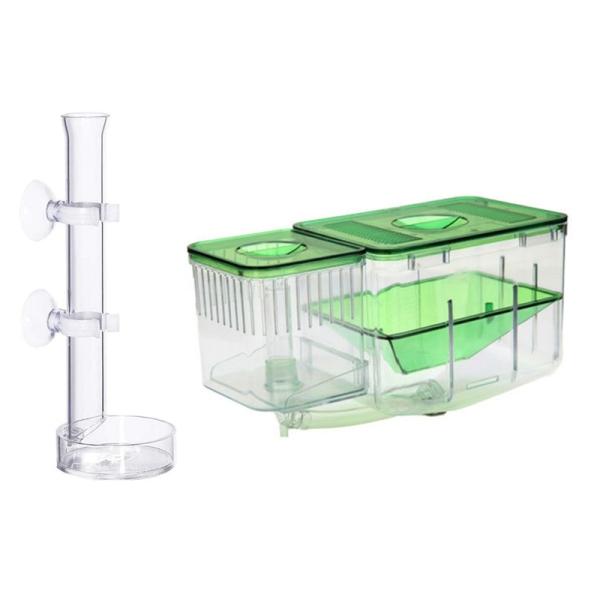 Aquarium Feeding Tube, Glass Fish Tube Aquarium Feeding Tube & Aquarium Tank Incubator Baby Fish Isolation Box