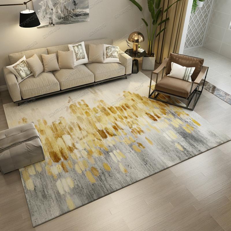 Northern Europe Light Luxury Wind Rug Minimalist Modern Living Room Rug Teapoy Table Mat INS Rug Bedroom IKEA Can Washing