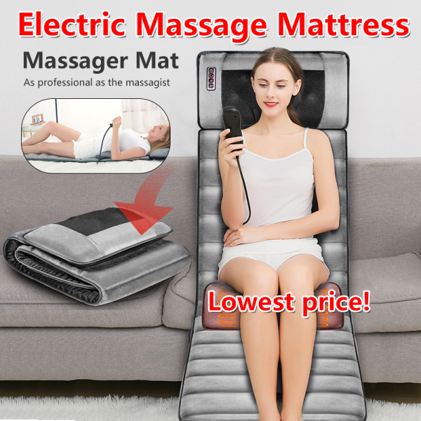 Buy 🔶Mothers Day Gift🔶 FULL BODY Massage Mat Multi-Functional Electric Shiatsu Heating Massage Mattress Pad Back Neck Singapore