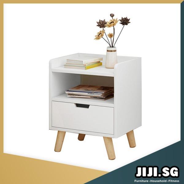 (JIJI SG) HONA Bedside Table (Single Drawer) (Free Installation) - Bedroom Furniture / Bedside Tables / 6 Months Warranty (SG)