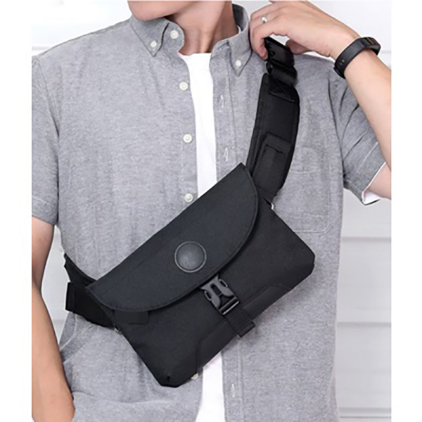 Travel Bag Men Sling Bag Crossbody Bag Waist Pouch Black