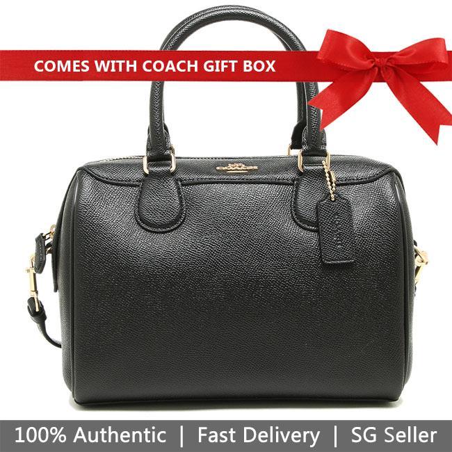 Coach Crossbody Bag In Gift Box Mini Bennett Satchel Crossbody Bag Handbag Black # F32202