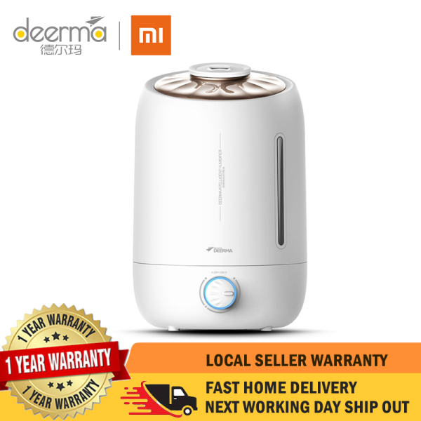 【1 Year Local Warranty】Xiaomi Deerma Dem-F500 Air Humidifier Ultrasonic 5L Quiet Aroma Mist Maker Led Touch Screen Timing Function Home Water Small Mini Diffuser Essential Oil Singapore