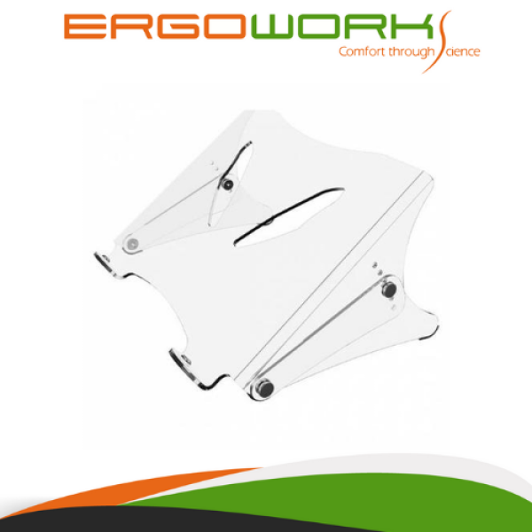 ERGOWORKS EW-98450V2 Acrylic Laptop Stand, 5mm Clear Acrylic, Suitable for Laptop up to 15.4 (39cm), Maximum Weight Capacity Up to 12kg, Dimension 350 x 280mm
