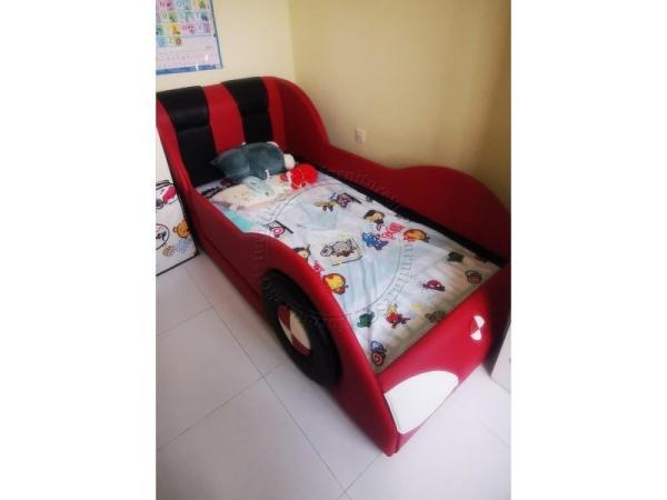(FurnitureSG) Sports Car Children Bed