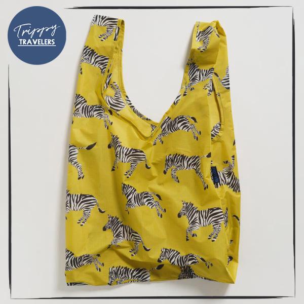 Standard Baggu Reusable Bag Spring Collection 2020 - Ochre Zebra