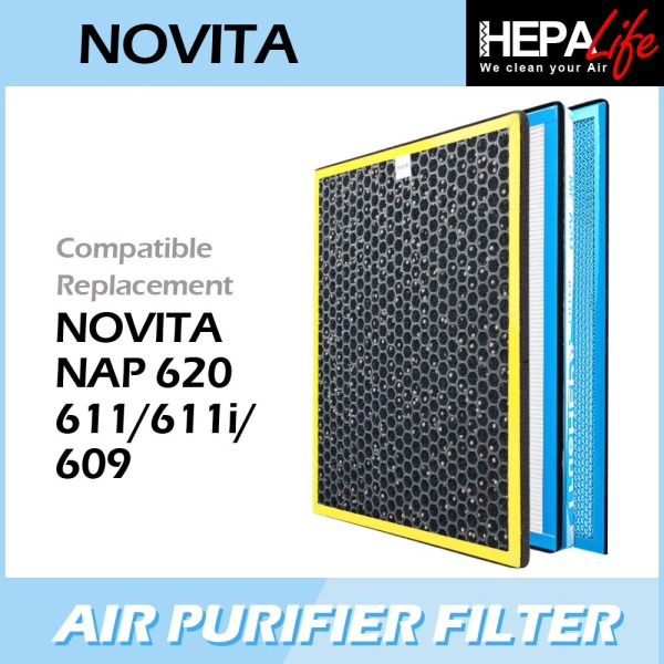 NOVITA NAP611 NAP611i NAP620 NAP609 NAC609 Compatible Hepa Filter - Hepalife Singapore