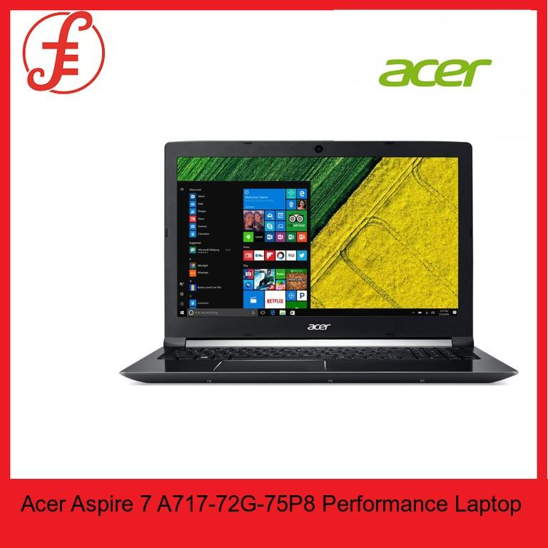 Acer A717-72G-75P8 Laptop i7-8750H Windows 10 Home (64-Bit) 17.3 FHD IPS LED-backlit Display NVIDIA® GeForce® GTX1050 (4GB GDDR5 VRAM) 8GB DDR4 RAM, 128GB SSD + 1TB HDD