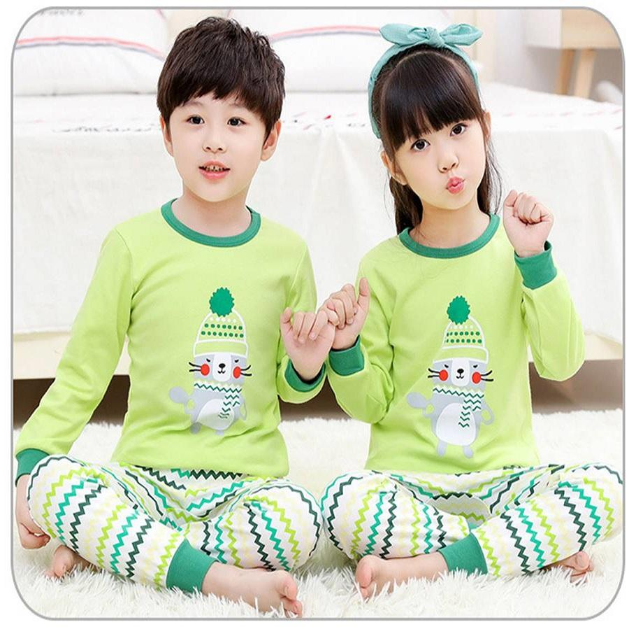 Big Kids Pyjamas /children Family Couple Pyjamas Set Up To Size 180cm Boys [pjn11] By Jolly Sg.