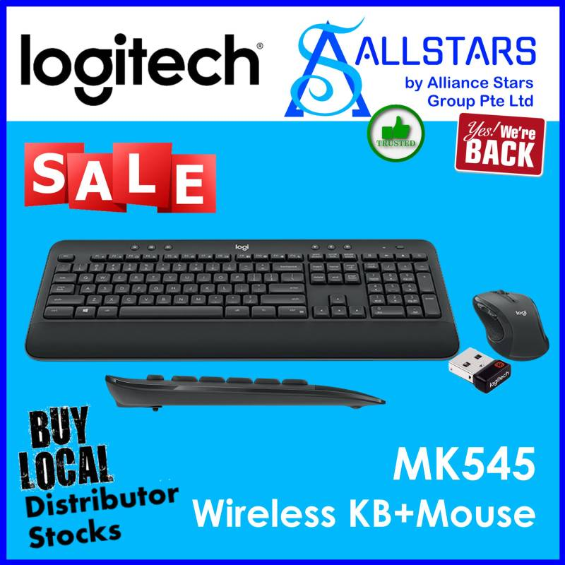 (ALLSTARS : We are Back / Keyboard & Mouse Promo) LOGITECH MK545 Advanced Wireless Combo (920-008696) (Warranty 1year with BanLeong) Singapore