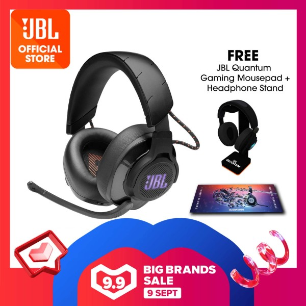 JBL Quantum 600 Wireless over-ear performance gaming headset with surround sound and game-chat balance dial + Quantum Headphone Stand + Gaming Mouse Pad Singapore