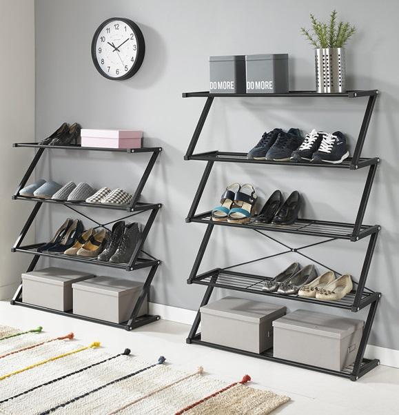 Simple Modern Z Shape Metal Shoe Rack