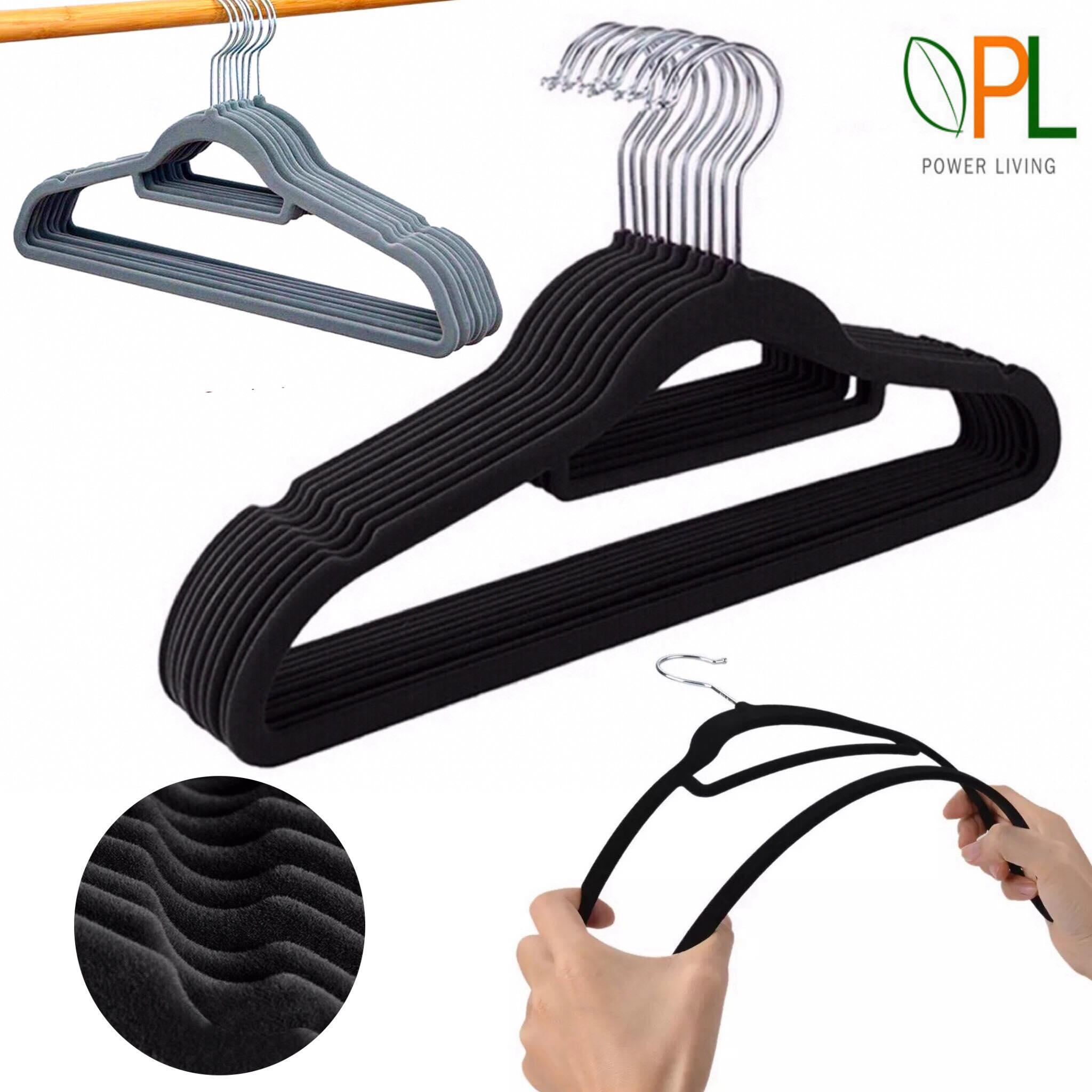 Velvet Clothes Hanger (50pcs Per Set) By Power Living.