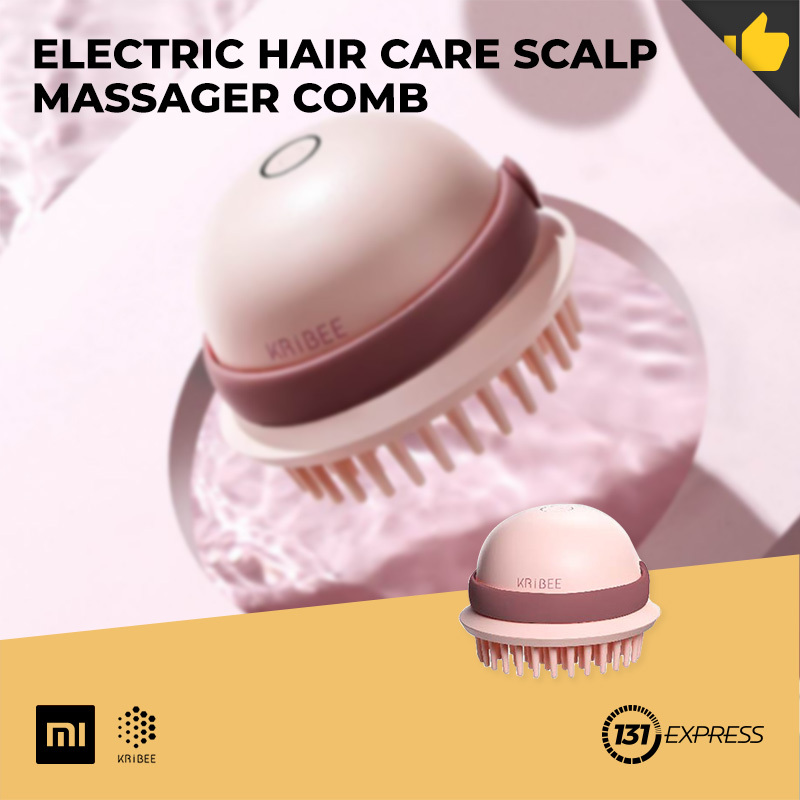 Buy Xiaomi Kribee Electric Hair Care Scalp Massager Comb [ EP1164-3C, Spa Grade, Wet And Dry Use, IPX7, Low Frequency Scalp Vibration Massage, TPE Material, USB Charging Interface, Portable, Hair Grooming, Relaxation Tool ] Singapore