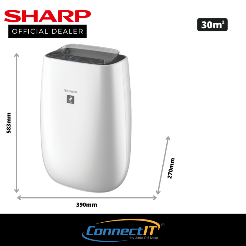 Sharp FP-J40E (Black) Plasmacluster Air Purifier with 30m² coverage area. 1 Year Local Warranty Singapore