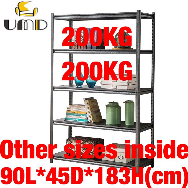 UMD Super heavy duty boltless storage rack steel rack with height adjustable shelf (refer to color option pic for size options only, color all same)