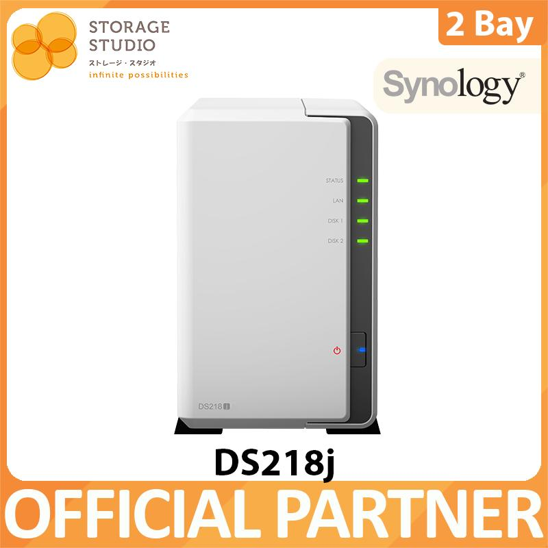 Synology Nas Ds218j 2bay Nas Diskstation. Local Distributor Warranty. Award Winning Product By Storage Studio (s) Pte Ltd.