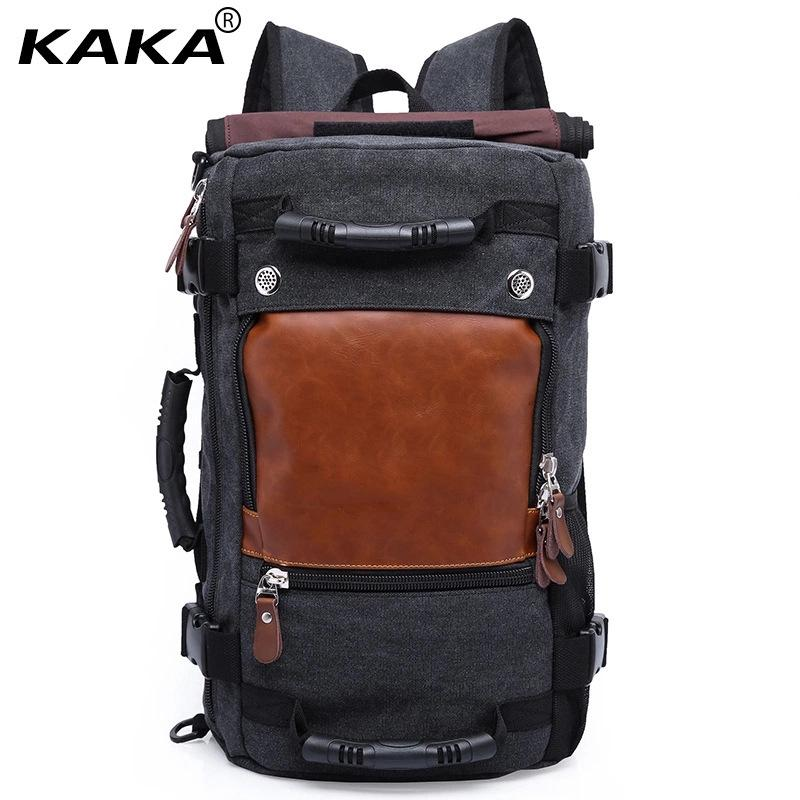 ★SG LOCAL STOCK★ KAKA Canvas Backpack Men Travel Rucksack Laptop Bag Notebook Casual