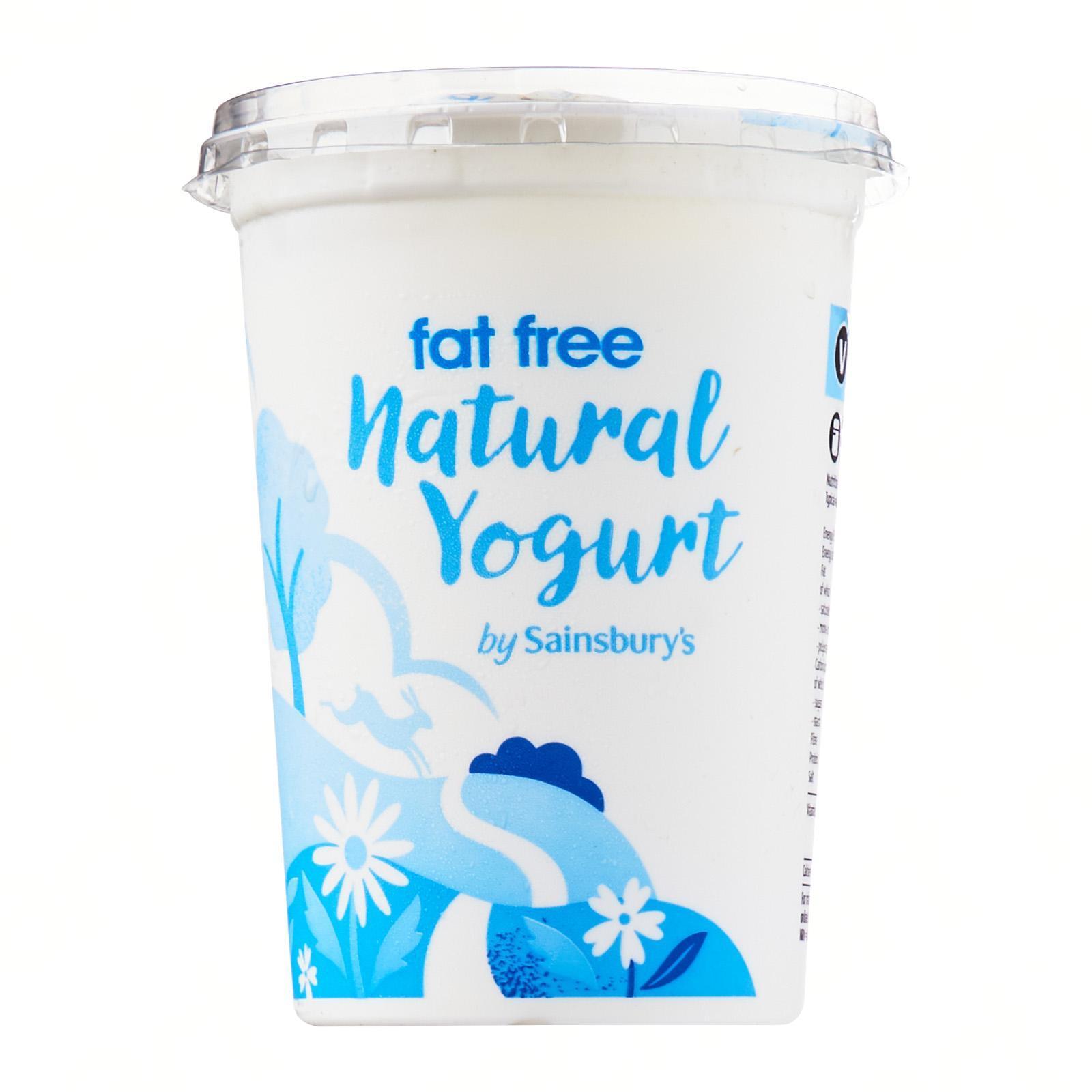 Sainsbury's Fat Free Natural Yoghurt