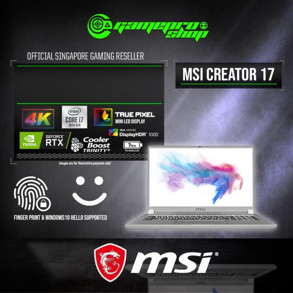 MSI Creator 17 A10SE 4K Gaming Laptop (i7-10875H/16GB DDR4/1TB SSD/NVIDIA RTX2060 6GB GDDR6/17.3UHD Mini LED /W10) - A10SE- (2Y)