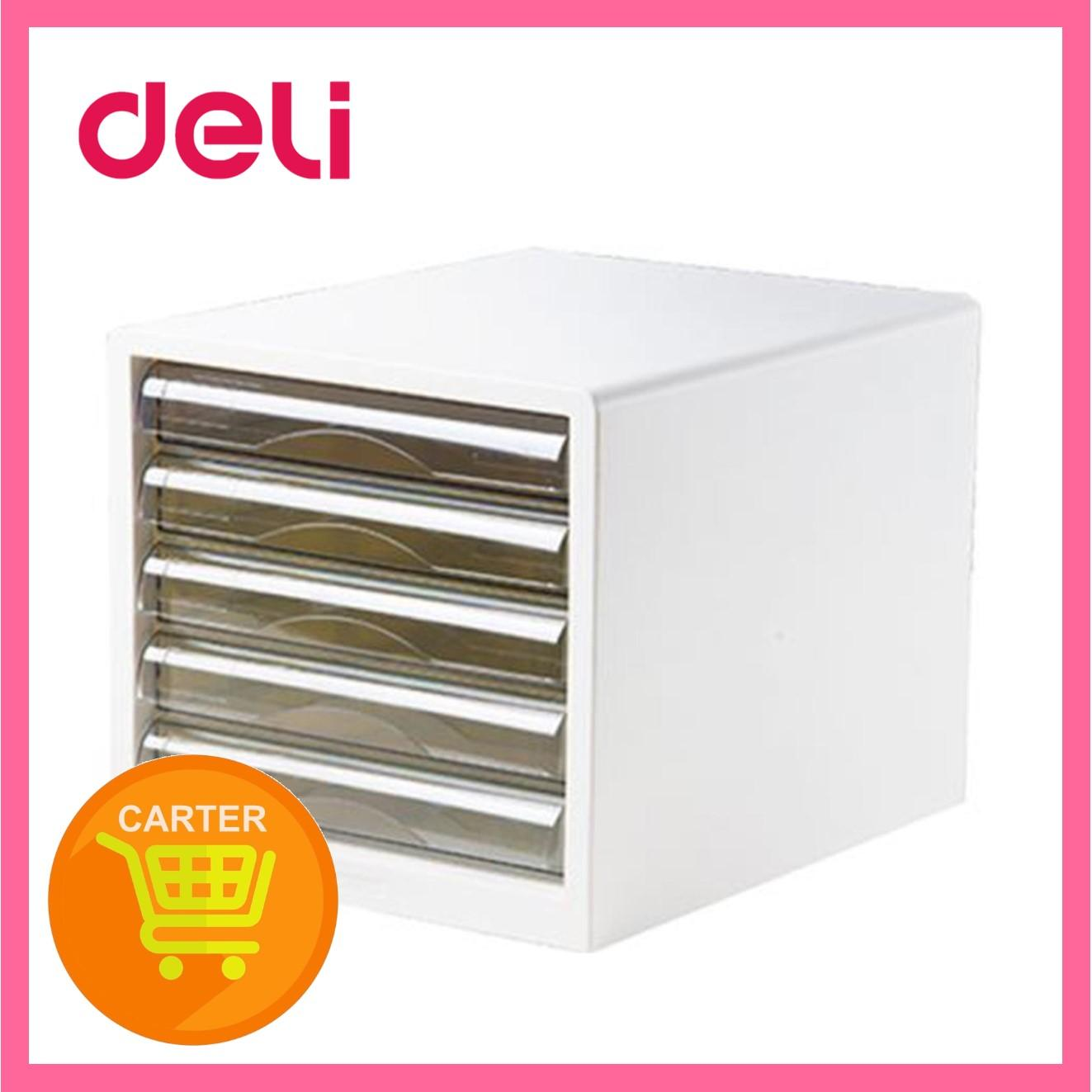 Deli 5 Drawers File Cabinet E9777 (White)