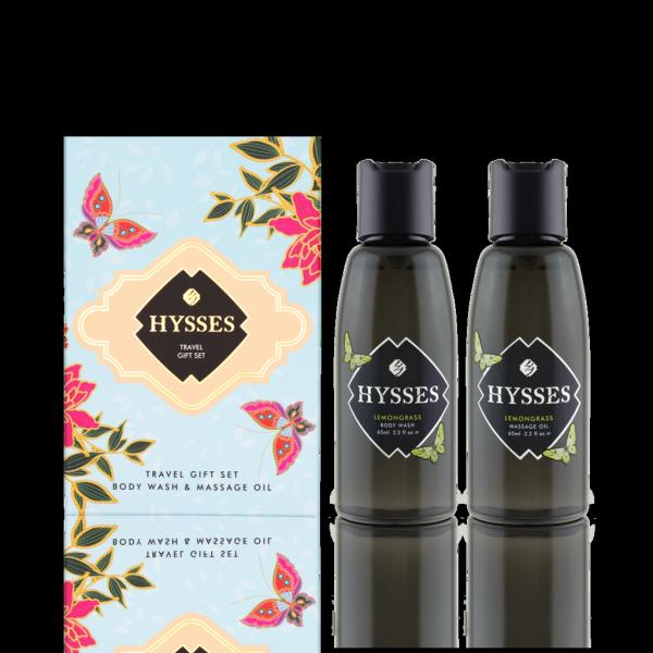 Buy Hysses Body Wash & Massage Oil Travel Gift Set (Rose Geranium) Singapore