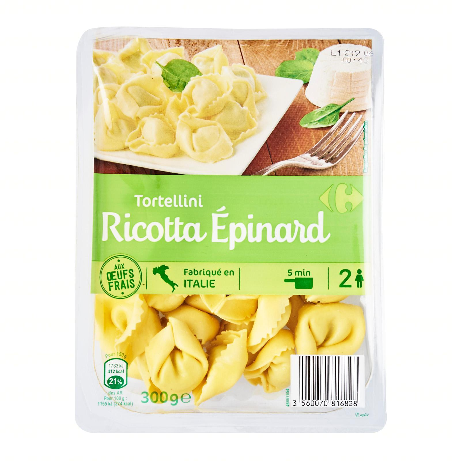 Carrefour Spinach/ricotta Fresh Tortellini - By Le Petit Depot By Redmart.