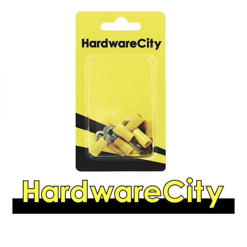 HardwareCity Insulated Ring Crimp Connectors, Yellow (12AWG - 10AWG) 10PC/Pack
