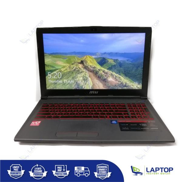MSI GV62 8RD GTX1050Ti (i5-8 / 8GB / 1TB) [Premium Preowned] Refurbished