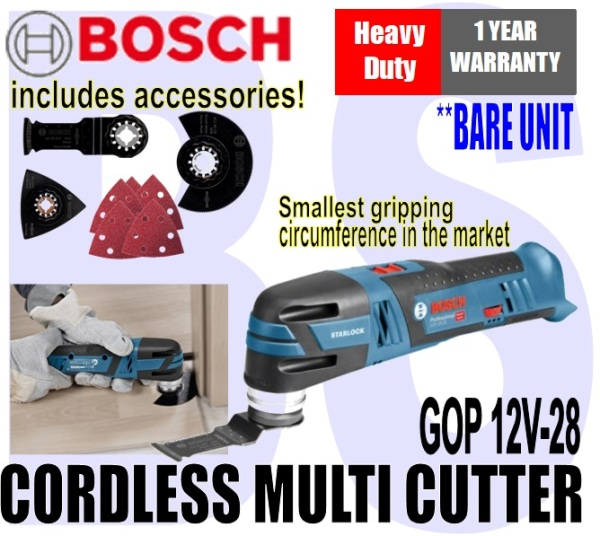 BANSOON BOSCH Cordless Multi-Cutter. GOP 12V-28. trimming. adjusting. repairing. Heavy Duty. 1 Year Warranty.