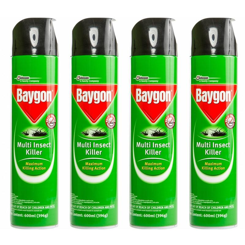 [baygon] Multi Insect Killer 600ml X 4 By One Mart.