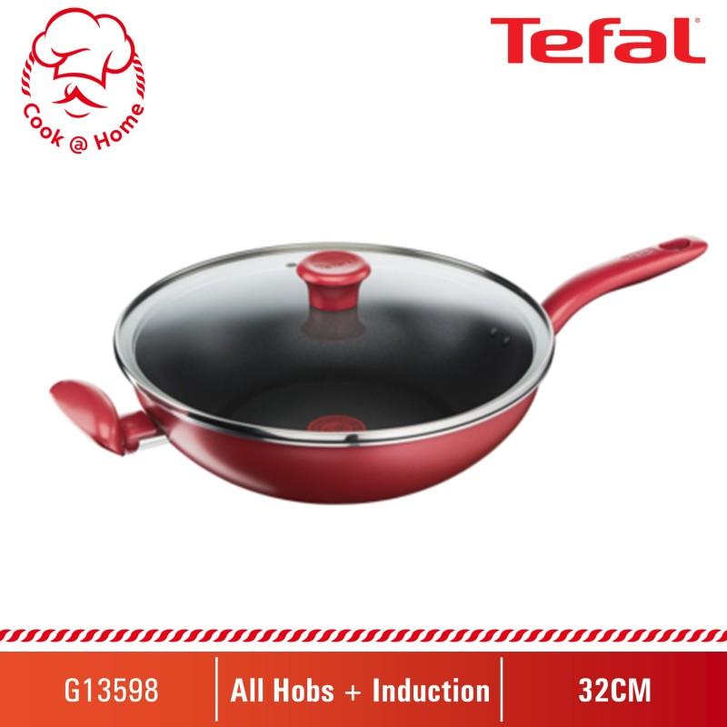 Tefal So Chef Wok Pan 32cm w/lid G13598 Singapore
