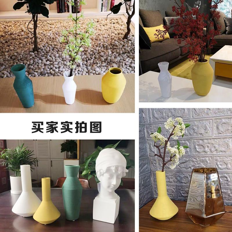 Morandi Color Nordic Creative INS Ceramic Dried Flower Vase Living Room Flower Arrangement Modern Minimalist Decorations And Ornaments