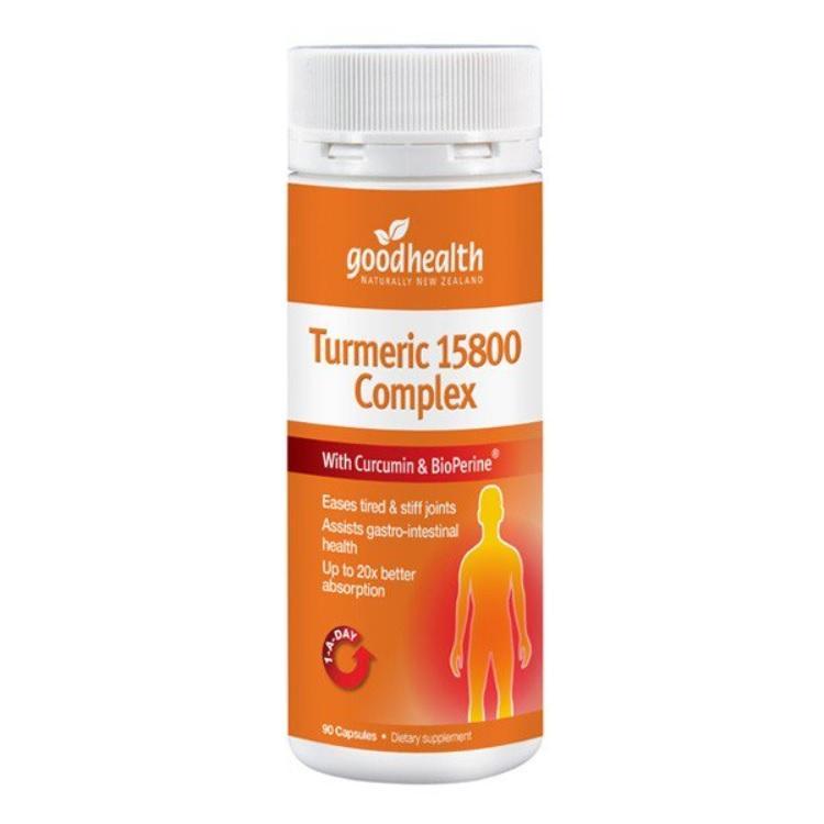 Turmeric 15800 Complex + Black Pepper and 3 Ayurvedic Herbs - *Boswellia  *Ginger *Ashwagandh - 90caps