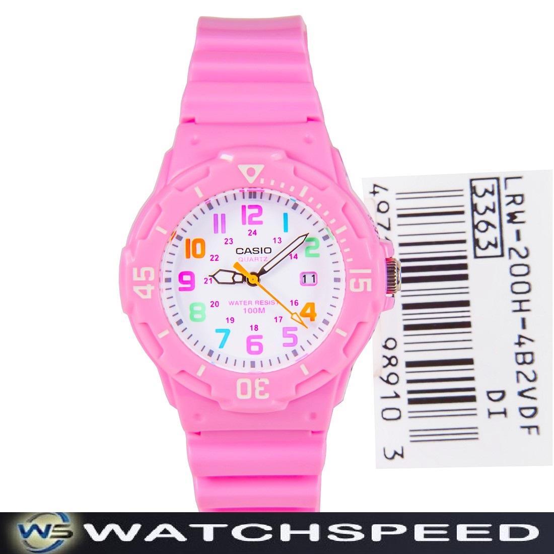 c631369b1 Casio LRW-200H-4B2 LRW200H-4B2 Pink Resin 100M Ladies / Womens Watch