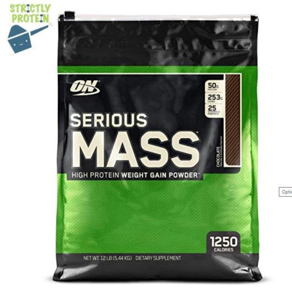 Buy 12Lbs, Serious Mass, Optimum Nutrition, Mass Gainer, Whey Protein, Protein Powder Singapore
