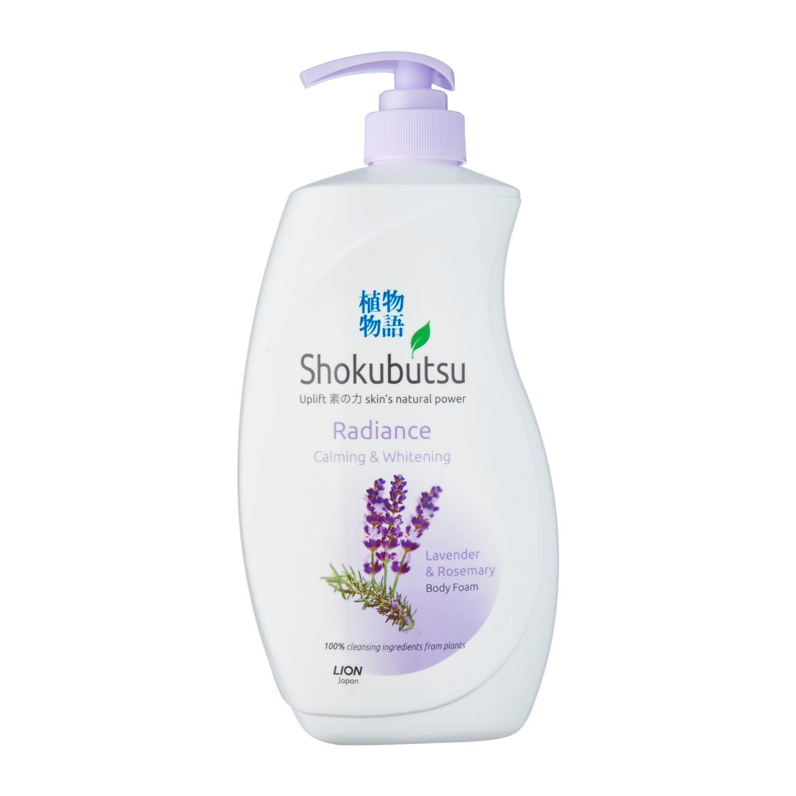 Shokubutsu Radiance Calming & Whitening Lavender & Rosemary Body Foam, 900ml