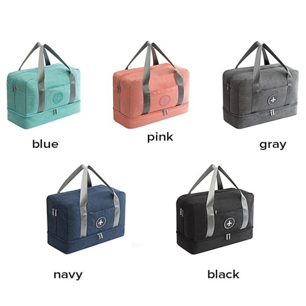 Dry Wet Separation Travel Luggage Storage Bag (LLS1355) Singapore Seller + 100% Authentic.