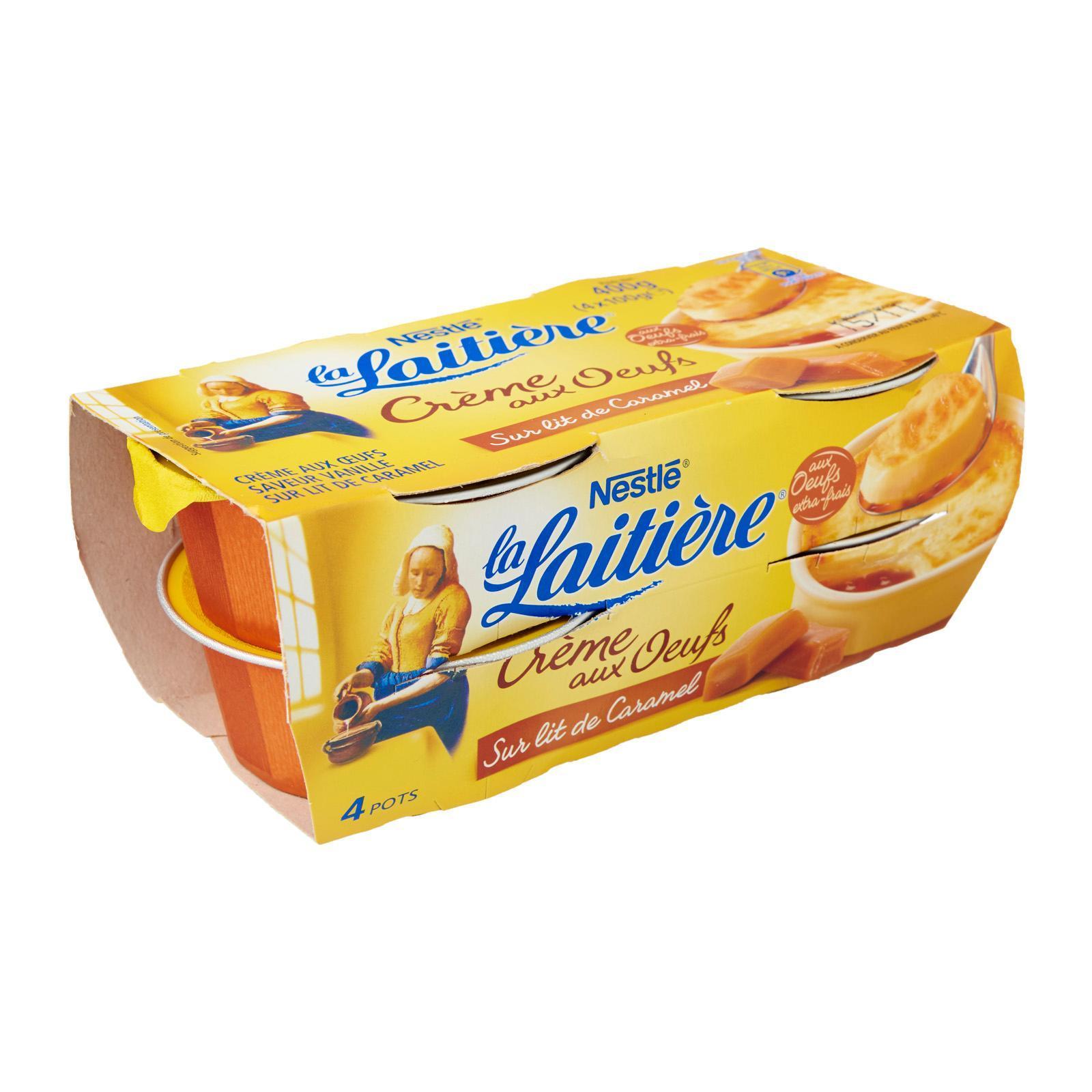 La Laitiere Creme Aux Oeufs With Caramel
