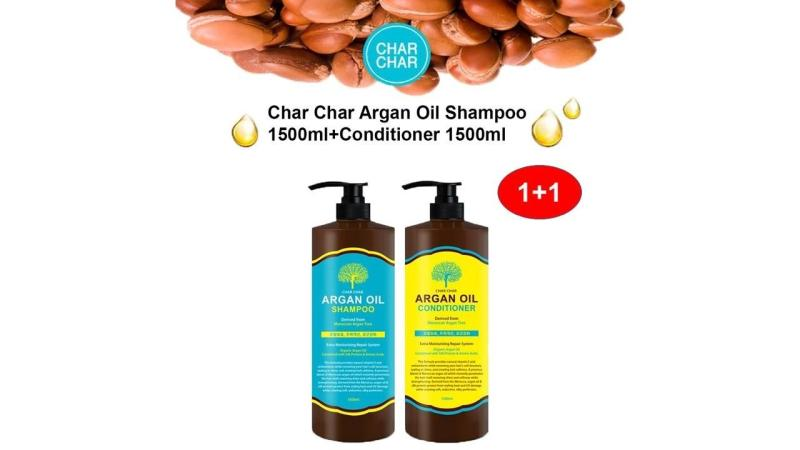 Buy COMBO SET - CHAR CHAR ARGAN OIL SHAMPOO (1.5L) + CONDITIONER (1.5L) Singapore
