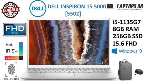 [NEW ARRIVAL-BRAND NEW] DELL INSPIRON 15 5000 (55020   intel i5-1135G7   2.4GHz-4.2GHz   11th GEN   8GB RAM   256GB SSD   15.6 FHD   FINGERPRINT READER   WINDOWS 10   INTEL IRIS XE GRAPHICS   FREE BAG & MOUSE   1-YEAR WARRANTY