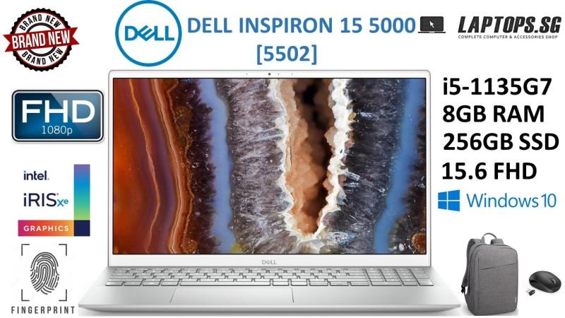 [NEW ARRIVAL-BRAND NEW] DELL INSPIRON 15 5000 (55020 | intel i5-1135G7 | 2.4GHz-4.2GHz | 11th GEN | 8GB RAM | 256GB SSD | 15.6 FHD | FINGERPRINT READER | WINDOWS 10 | INTEL IRIS XE GRAPHICS | FREE BAG & MOUSE | 1-YEAR WARRANTY