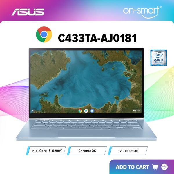 【Next Day Delivery】ASUS Chromebook Flip C433TA-AJ0181  Intel Core i5-8200Y Processor  8GB RAM  128GB eMMC  14.0 FHD 1920x1080 Touch-Display  Chrome OS  1 Year On-Site Warranty