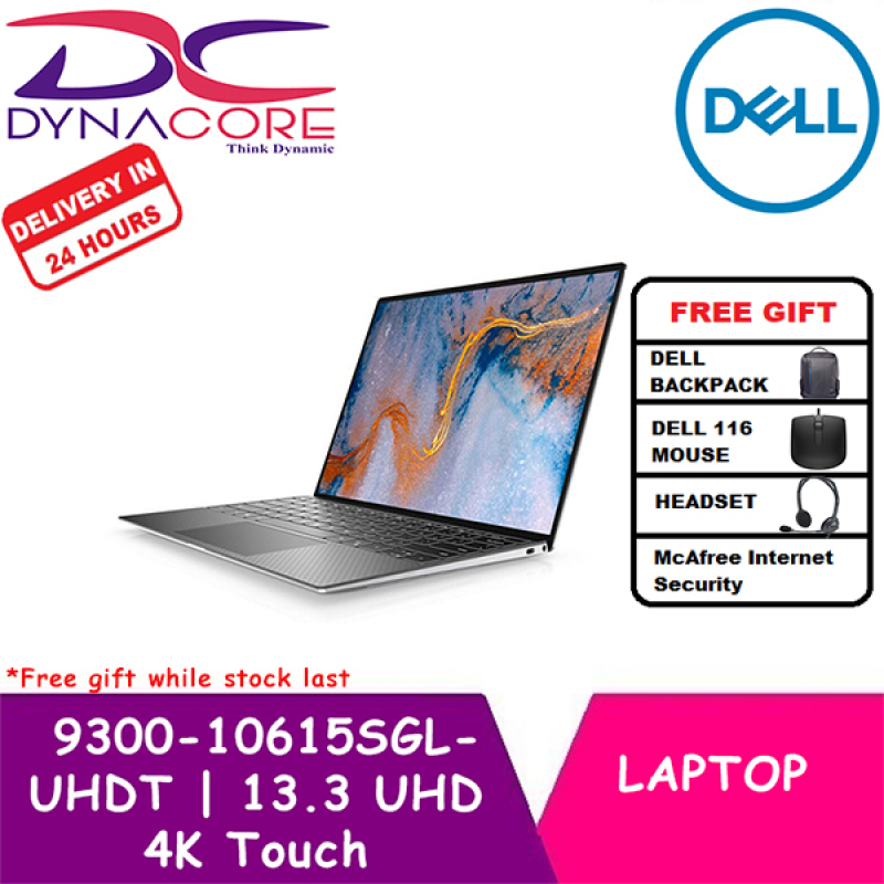DYNACORE - DELL XPS 2020 model 9300-10615SGL-UHDT | 13.3 UHD 4K Touch | i7-1065G7 | 16GB RAM | 512GB PCIe SSD | 2 Year Dell Onsite Warranty