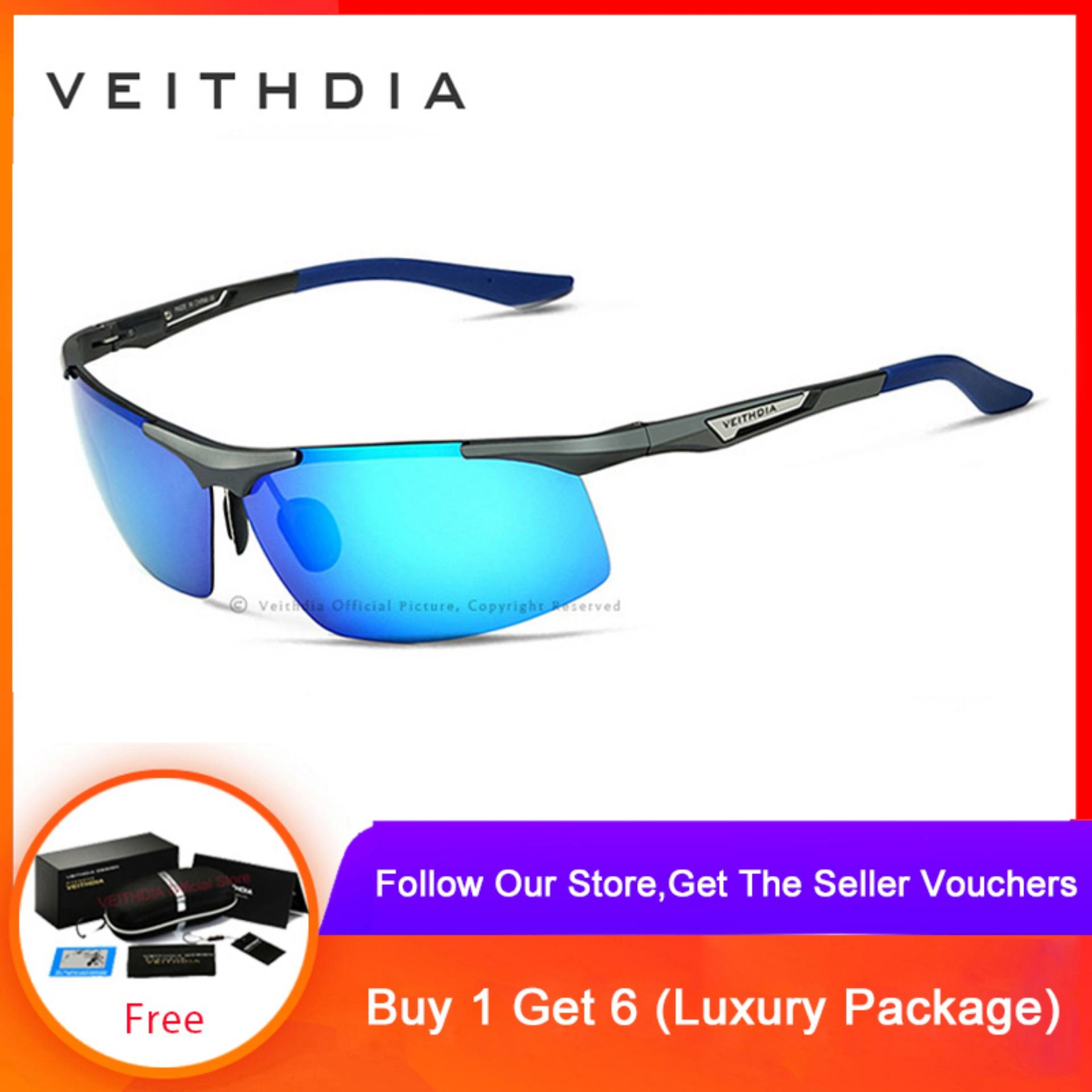 694e24fab0aa VEITHDIA Aluminum Magnesium Men's Sunglasses Polarized Men Glasses Eyewear  Men 6562