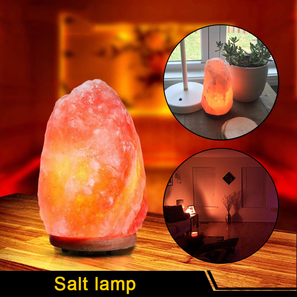 Fityle Himalayan Warm White LED Salt Lamp Natural Crystal Hand Carved Night Light for Lighting Decoration and Air Purifying cny decoration Christmas presents New year presents