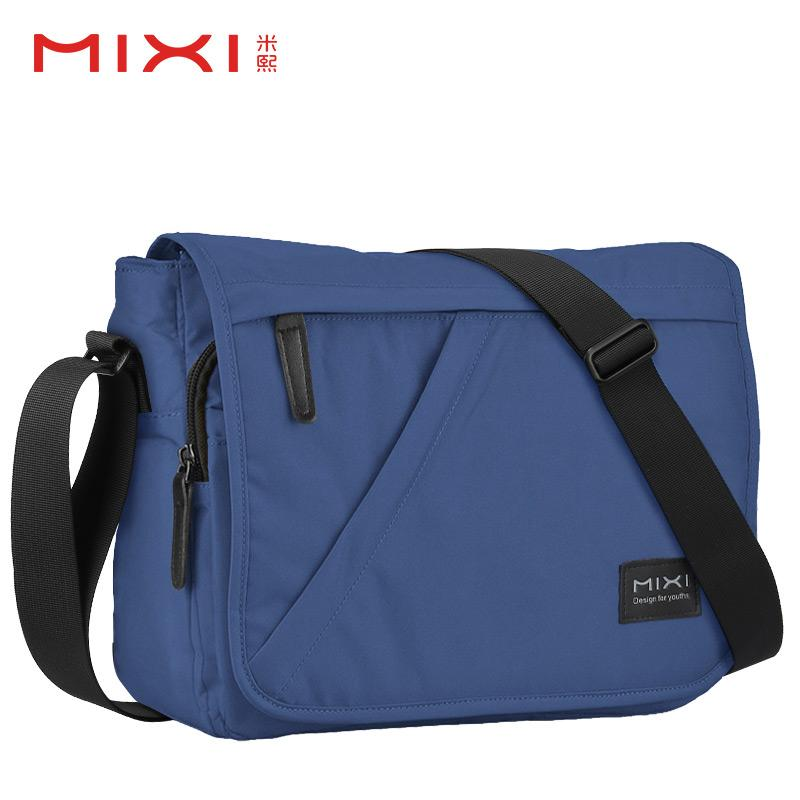 Mixi Shoulder Bag Male Canvas Messenger Bag Sports Bag Students Xiao Gua Bao Cross-body Bag Backpack Business Briefcase