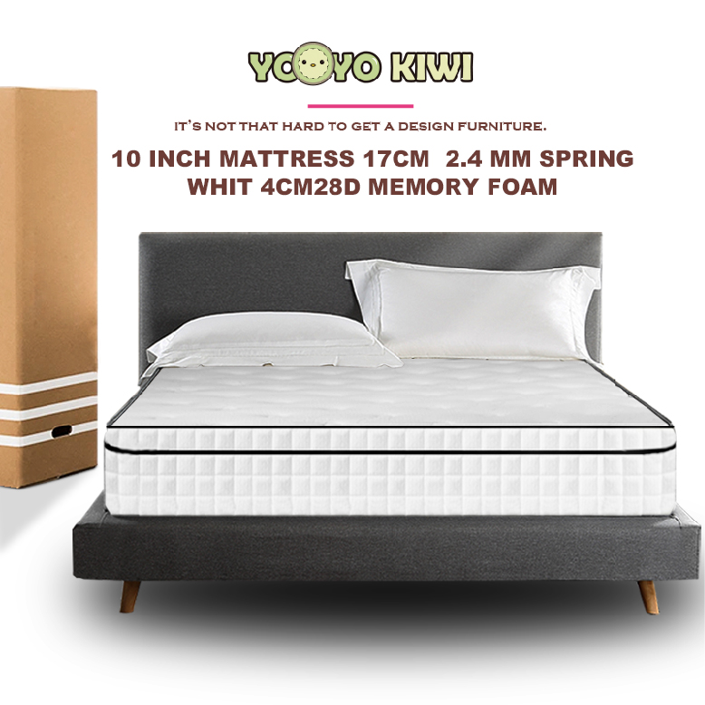 YOYO KIWI 10-inch Package Spring Mattress / Innerspring Hybrid Mattress