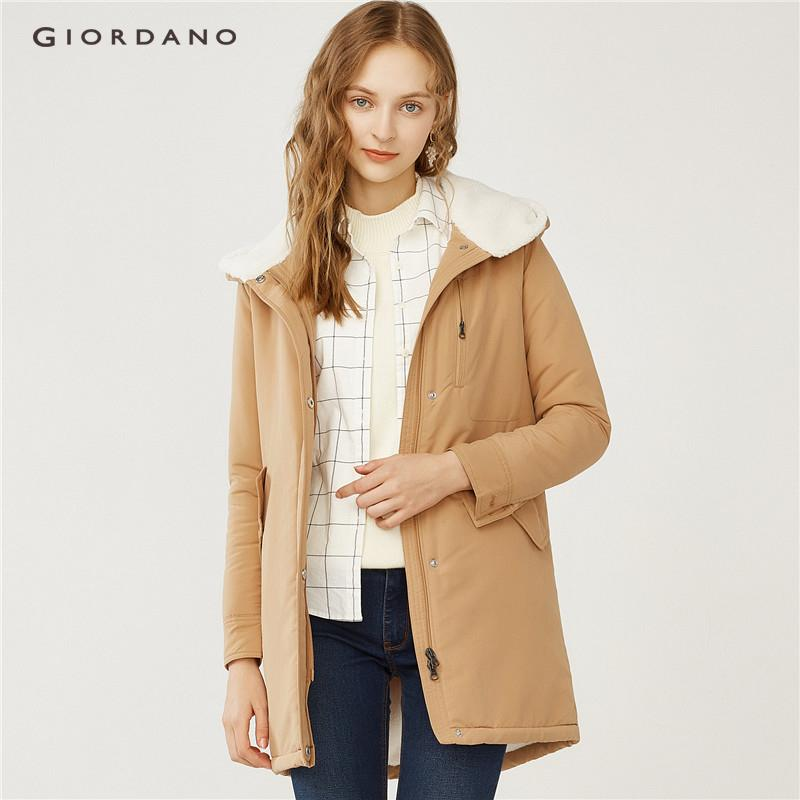Giordano Beau Monde Women Thick Hooded Fleeced Long Jacket [free Shipping] 13378706 By Giordano Official.